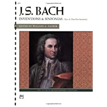 Bach - Inventions and Sinfonias: Two- and Three-Part Inventions, Comb Bound Book