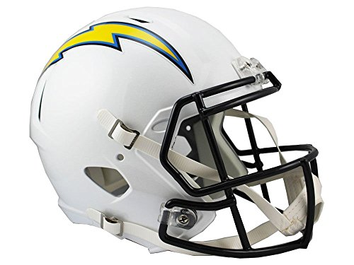 Riddell NFL San Diego Chargers Full Size Replica Speed Helmet, Medium, Blue