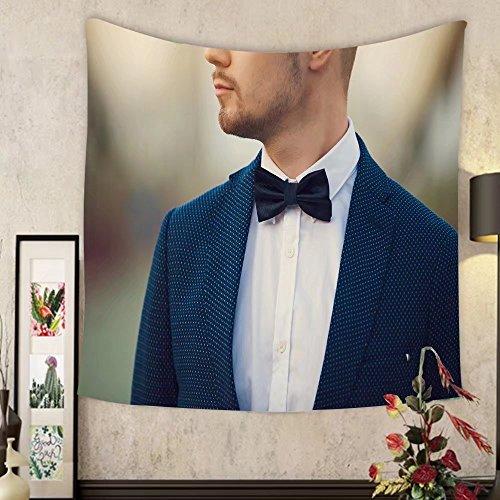 Madeleine Ellis Custom?tapestry elegant young handsome man outdoor fashion portrait