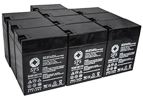 SPS Brand 6V 14 Ah Terminal T1T2 Replacement Battery for Carpenter Watchman A074 (12 PACK) by SPS