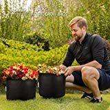 VIVOSUN 5-Pack 5 Gallon Grow Bags Heavy Duty 300G