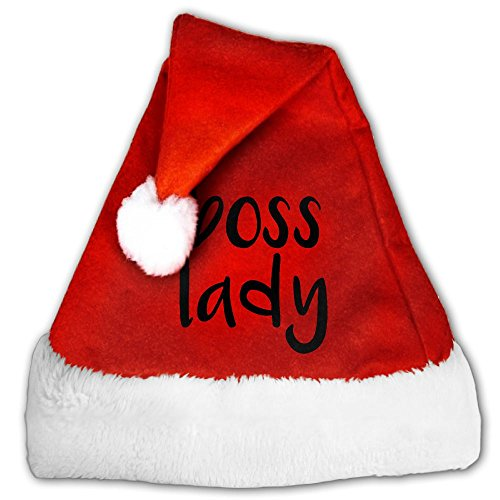 Gask-L Boss Lady Plush Christmas Hat Santa Hats Costume For Christmas Party (Forrest Gump Family Costume)