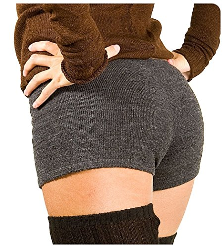 Charcoal Large Sexy Low Rise Yoga & Dance Shorts Stretch Knit KD dance New York Trending Dancewear Shorts Made In USA
