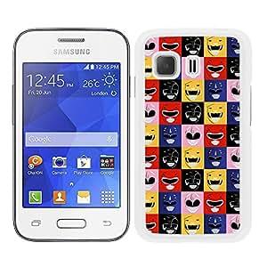 Funda carcasa para Samsung Galaxy Young 2 estmapado Power Rangers superhéroe borde blanco