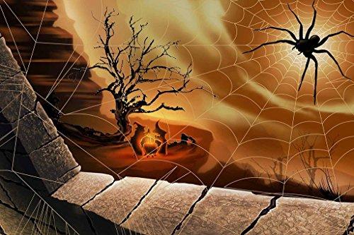 PigBangbang,29.5 X 19.6'' Premium Basswood Bright Colorful Art Pictures Jigsaw Puzzles Cartoon 1000 piece Mural Home Decoration Mural Home Decoration-Halloween Spider ()