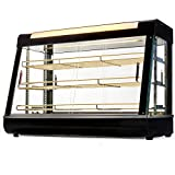 Ensue 1500W Commercial Countertop Food Warmer 36'' Display Case Pizza Hot Dog Heated Freestanding Adjustable Knob