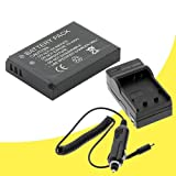 NB-5L Battery and Wall Charger with Car Charger Adapter for Canon PowerShot SX230 HS Digital Camera DavisMAX NB5L Battery Charger Bundle