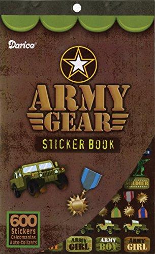 Children's Reward Decorative Sticker Book Army Gear Themed 600 Stickers ()