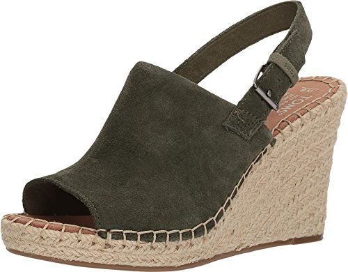 - TOMS Women's Monica Pine Suede Wedge Sandals (7 B(M) US)
