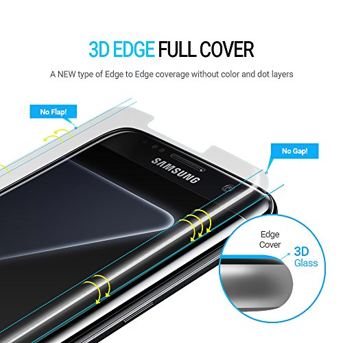Whitestone Dome Glass, [For S7 Edge]Tempered Screen Protector, Superior  Touch Sensitivity, Cracked Screen Repair, Edge to Edge Full