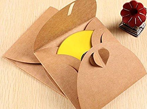 Paper Cd Packaging - Rainbow Love CD DVD Kraft Paper Sleeves Wedding Party CD DVD Paper Bag Cover CD Pack Packaging Envelopes Package,Pack of 20