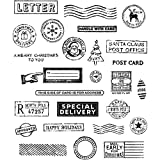 ShopForAllYou Stamping & Embossing Anonymous''Holiday POSTMARKS'' Rubber Cling Stamp Set