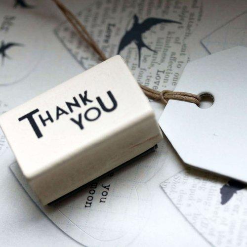 Stempel THANK YOU aus Holz Für Kunst / Scrapbooking / Kartengestaltung von East of India
