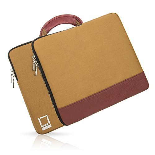 Slim Design Coated Twill Carrying Sleeve [Tan Wine] with ...