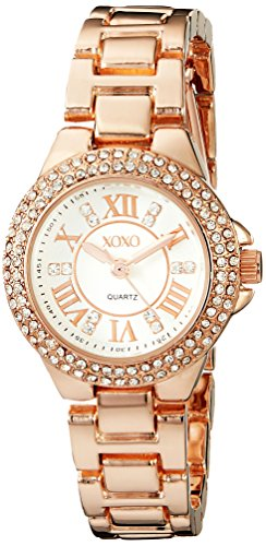 XOXO Womens XO5768 Analog Display Analog Quartz Rose Gold Watch