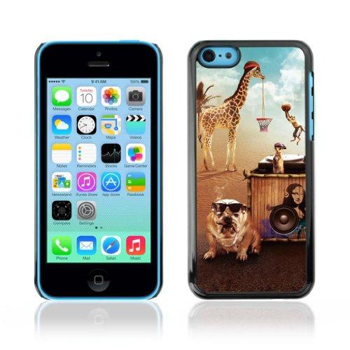 Designer Depo Etui de protection rigide pour Apple iPhone 5C / Parti Animaux