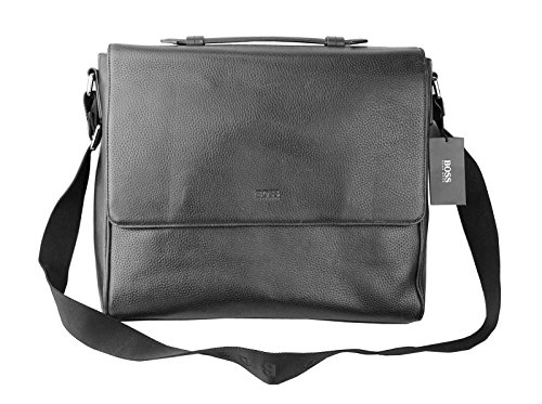 32b55abc37ea HUGO BOSS BLACK 100% LEATHER BANGOR-2 CROSS BODY MESSENGER BAG NEW  595.00  - Buy Online in Oman.