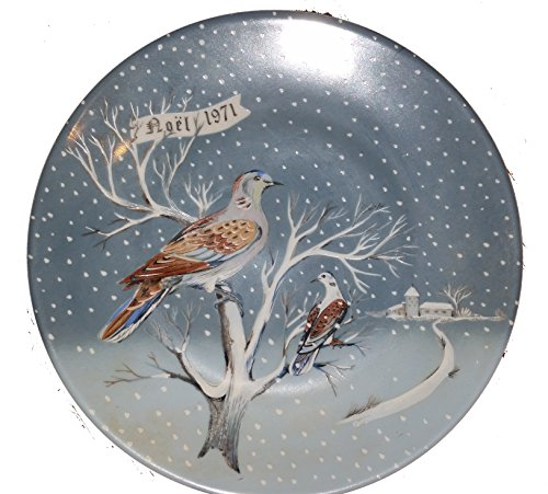 Haviland Limoges Twelve Days of Christmas - Two Turtle Doves Collector Plate by Artist Rémy Hétreau