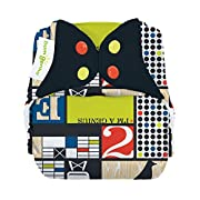 bumGenius Freetime All-In-One One-Size Snap Closure Cloth Diaper (Mid-Century)