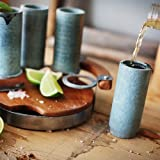 Sparq Tequila Shot-Glas, Stein, Mehrfarbig, 4er Set.