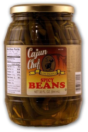 - Cajun Chef Louisiana Spicy Green Beans 32oz Glass Jar (Pack of 2)