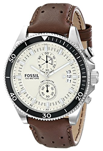 fossil ch2943 wakefield brown leather men s watch amazon co uk fossil ch2943 wakefield brown leather men s watch amazon co uk watches