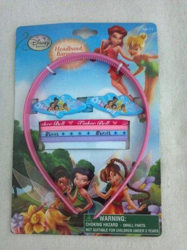 Disney Fairies Tinker Bell 7 Pice Hair Accessory Set (Headband Barrette, & Elastic Set)