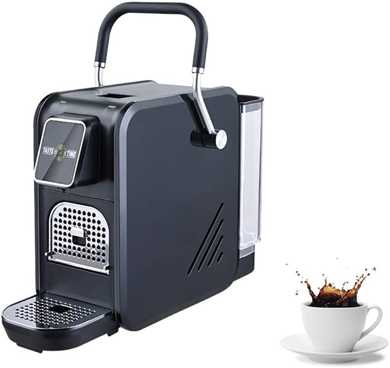 Cafetera exprés Máquina de panel táctil Máquinas de cápsulas de café precalentadas 25s (1400W 92 ° C Elaboración de la cerveza 20bar 0.8L) -Control de temperatura completamente automático,Negro