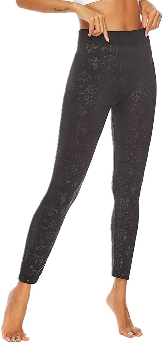 ZHJA Pantalones De Yoga De Cintura Alta Sexy para Damas Nuevas Europeas Y Americanas XL Impreso Pull Leggings Sin Costuras: Amazon.es: Ropa y accesorios