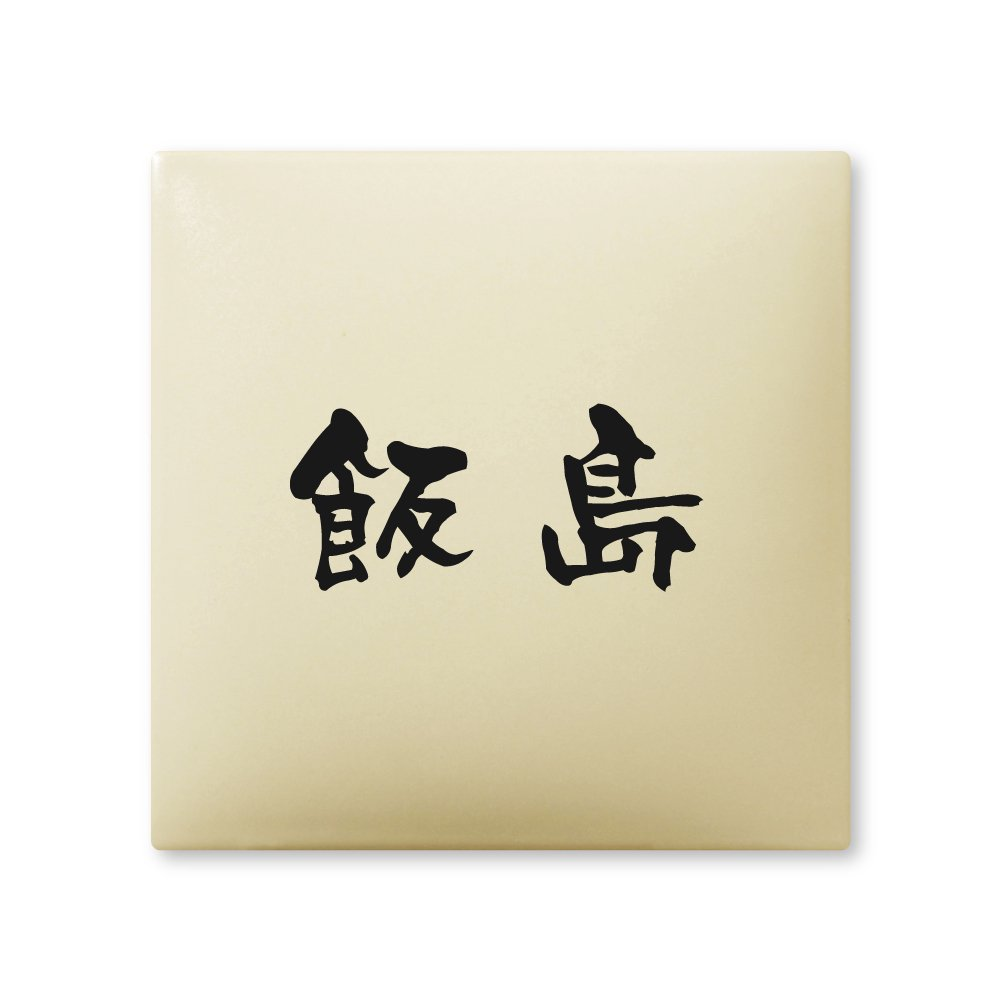 丸三タカギ 彫り込み済表札 【 飯島 】 完成品 アークタイル AR-1-1-3-飯島   B00RFAQM8W