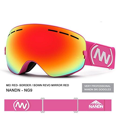 Lentille E Panoramique Leçon Goggle Snowboard Couche Masques Enfants SE7VEN buée Anti Sphériques De Ski Double Otg Ski De fTnYq