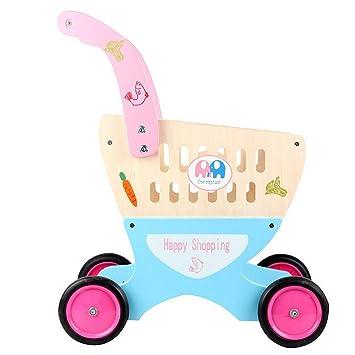 Casa DIY Casa de muñecas en Miniatura Kits Habitac Carro de Juguetes para niños 4 Ruedas Cosplay para niños y niñas Juego con Vegetales Exquisito: ...