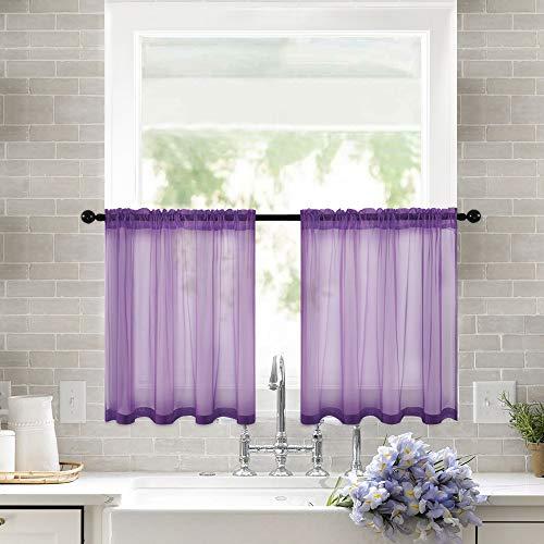 24' Tier Kitchen Curtains - MIULEE 2 Panels 29