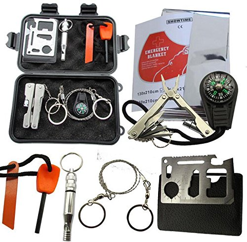 Lightahead® Survival Kit Outdoor Emergency Gear Kit for Camping Hiking Travelling or Adventures