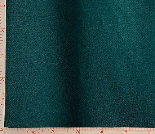 Dark Green 70 Denier Interlock Lining Fabric 2 Way Stretch Polyester 5.5 Oz (Denier Polyester)