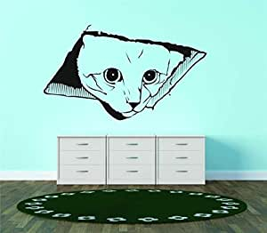 Watching You Ceiling Cat Vinyl Wall Decal Peel & Stick Graphic Sticker Picture Art Home Bedroom Decoration Kids Boy Girl Teen Dorm Room Children - 24 Colors Available 20X20