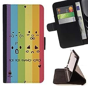 King Case - FOR Samsung Galaxy S4 IV I9500 - Don??t say you love me - Prima caja de la PU billetera de cuero con ranuras para tarjetas, efectivo Compartimiento desmontable y correa para la mu?eca