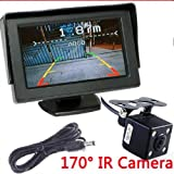 BW® 4.3 inch TFT LCD Car Reverse RearView Monitor 170 Degree IR Night Backup Reversing Camera Parking System