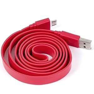 NFE² USB Cable de datos plano rojo Nokia 808PureView