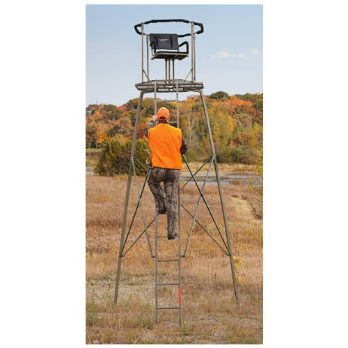 - Guide Gear 15' Woodsman Rotating Tripod Deer Stand