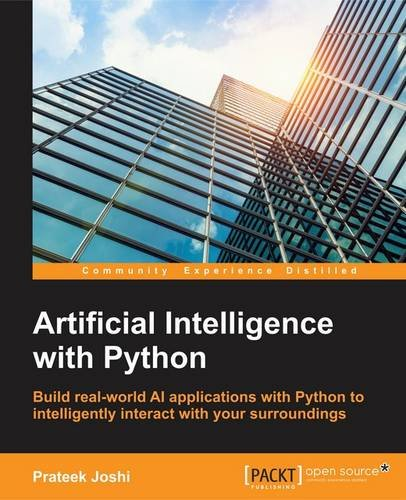 Book cover of Artificial Intelligence with Python by Prateek Joshi