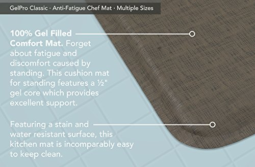 """GelPro Classic Anti-Fatigue Kitchen Comfort Chef Floor Mat, 20x48"""", Linen Granite Gray Stain Resistant Surface with 1/2"""" Gel Core for Health and Wellness by GelPro (Image #4)"""