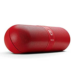 Beats by Dr. Dre Pill 2.0 Portable Wireless Bluetooth Speaker w/3.5mm Auxiliary Jacks & Case (Red Pill 2.0)