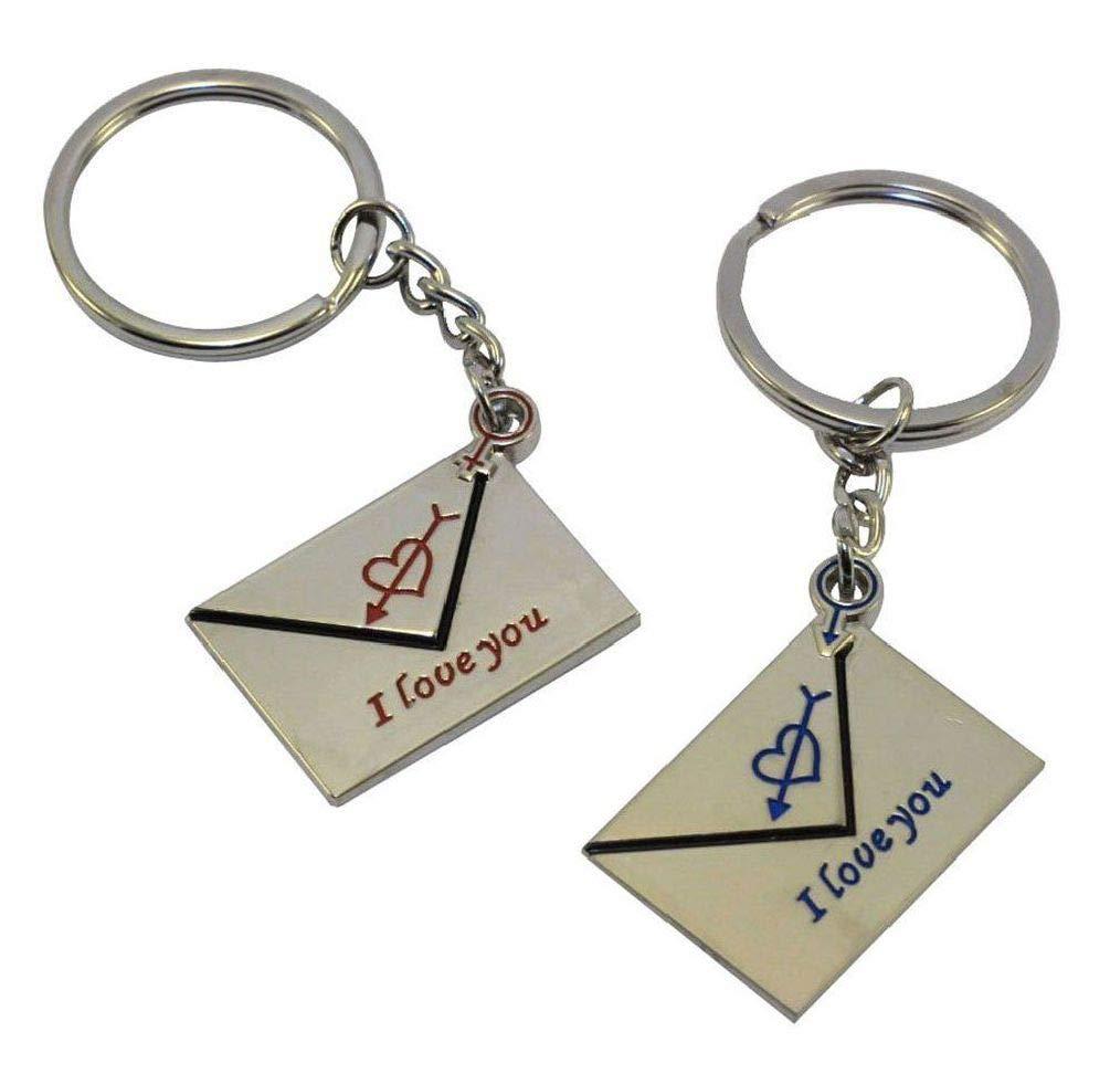 BlackC Home New Envelope Key Key Chain Ring Keyring Lover Gift Couple Keyfob I Love You