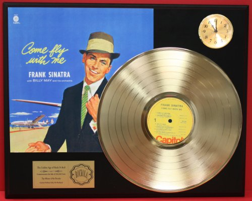 Frank Sinatra Come Fly With Me LTD Edition 24Kt Gold LP Record & Clock Display Quality Collectible by Gold Record...