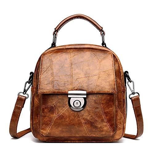 One a Ambiguity D tracolla Tote Borsa Fashion Backpack Women Simple Retro 21x10x23cm Leather Bag Multifunzione xgwTg1Yq