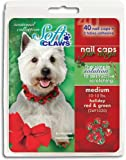Soft Claws Nail Caps for Dogs Green & Red, X-Large