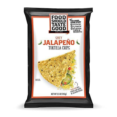FoodShouldTasteGood Jalapeno Tortilla Chips, 1.5-Ounce Bags (Pack of 24) - Jalapeno Tortilla Chips