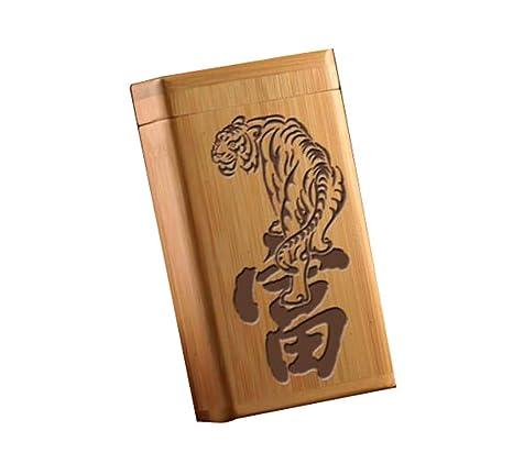 Amazon.com: Handmade Wooden 12 Sticks Cigarette Case, Unisex ...