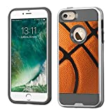 CorpCase iPhone 5 Case / iPhone 5S Case / iPhone SE Case - Basketball / Silver Mars Combo Case With Great Protection